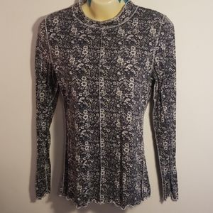 Intimately free people mock neck floral  top